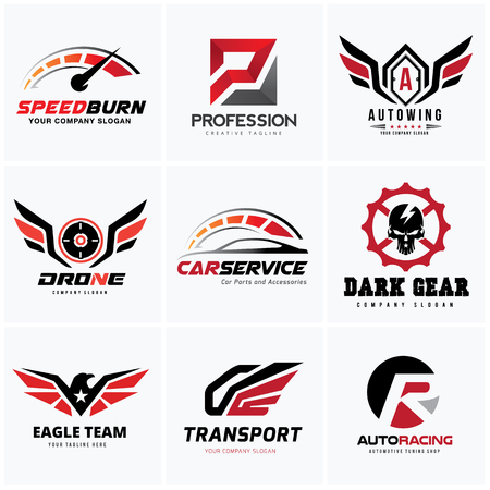 Car and automotive logo set Illustration