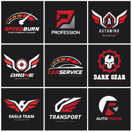 car and automotive logo set