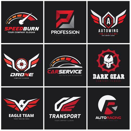car and automotive logo set