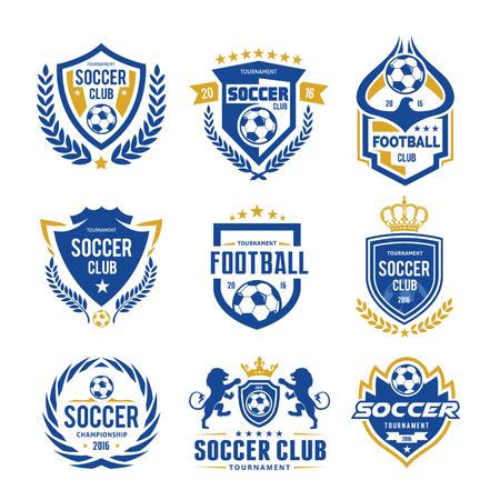 ロゴのコレクションのサッカーとサッカー 写真素材 - 77576426