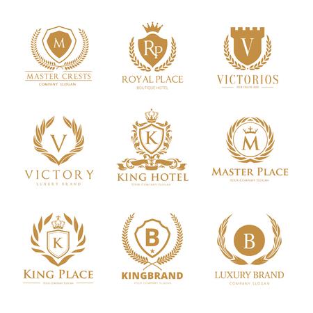 Crestas de lujo y colección de logotipos del hotel
