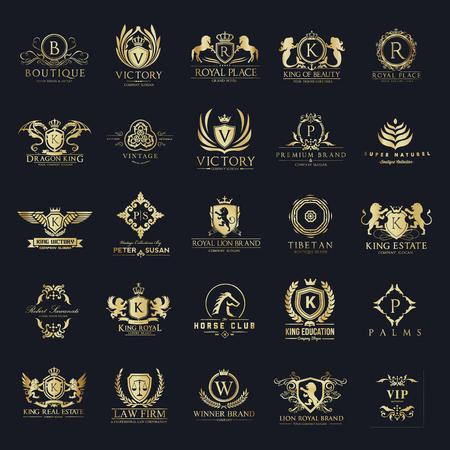 高級紋章とロゴのコレクションのホテル  イラスト・ベクター素材