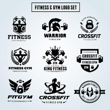 Sports and GYM logo set Illustration