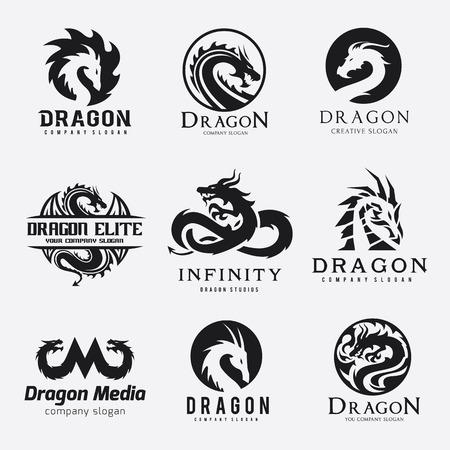 Dragon logo collection
