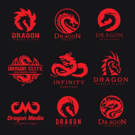 Dragon logo collection Imagens - 77308243
