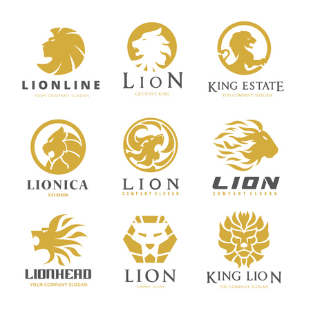 Lion logo set Illustration
