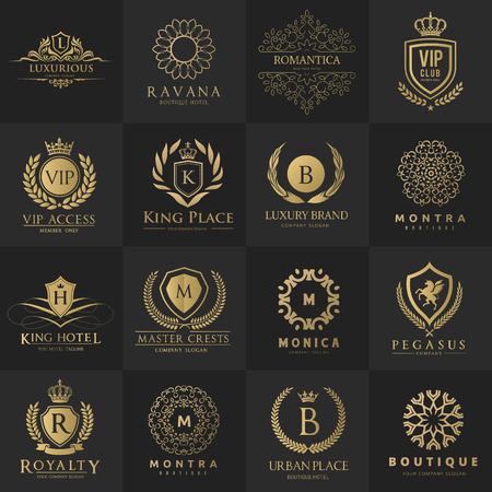 Luxury logo, hotel logo, Royalty logo design collection