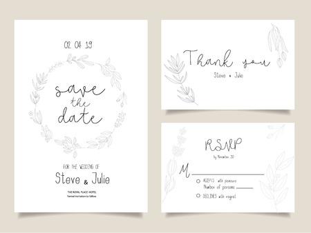 Wedding invitation cards. Çizim