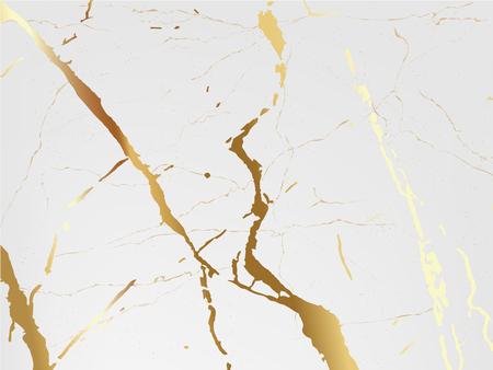 Sfondo di marmo vettore. Marmo con tessitura dorata. Modello di design moderno per matrimonio, invito, web, banner, carta, modello, illustrazione vettoriale carta da parati.