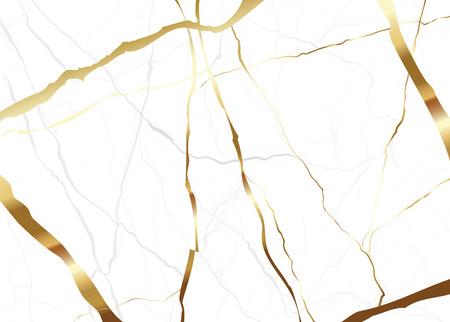 Gouden marmeren textuur als achtergrond Vector voor huwelijkskaart en boekomslag.