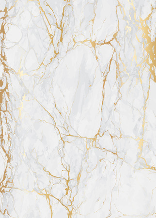 Marble with golden texture background for wedding card and luxury cover vector illustration Vettoriali