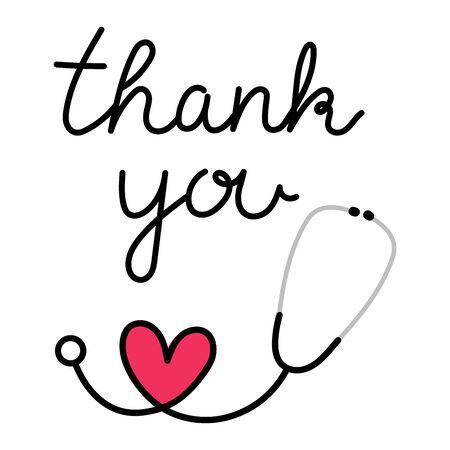 Merci au docteur, aux infirmières et à l'équipe du personnel médical d'avoir combattu le coronavirus. Merci héros, illustration vectorielle Vecteurs