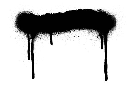 Spray Paint Vector Elements isolated on White Background, Lines and Drips Black ink splatters, Ink blots set, Street style.