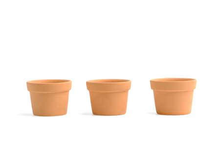 Empty Ceramic flower pot, Flower vase, isolated on white background