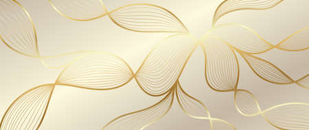 Luxury golden wallpaper. Art Deco Pattern, Vip invitation background texture for print, fabric, packaging design, invite.  Vintage vector illustration Ilustração