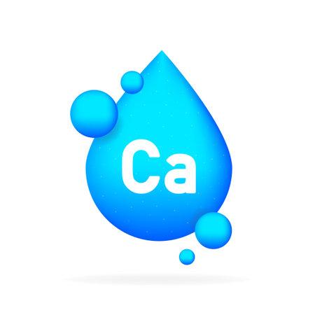 Calcium mineral. Ca pill capsule.