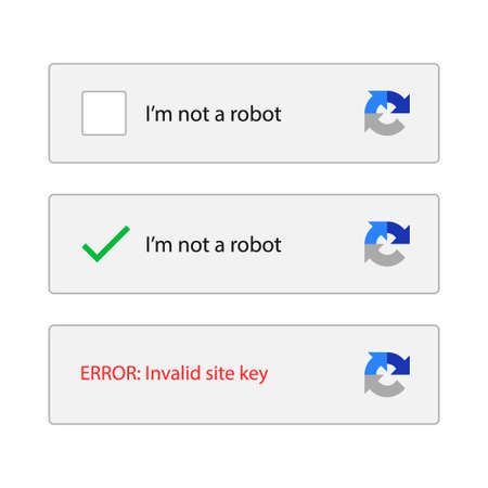 captcha i am not a robot vector computer code.