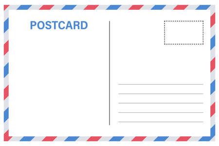 Vector postcard with white paper texture