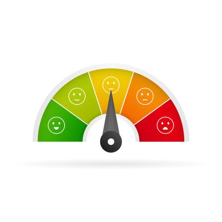 Feedback vector concept. Rank, level of satisfaction rating. Vector illustration.