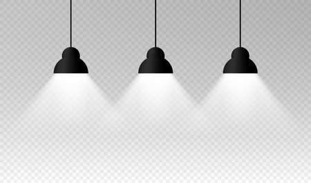 Lighting Lamp Empty Space. Vector illustration