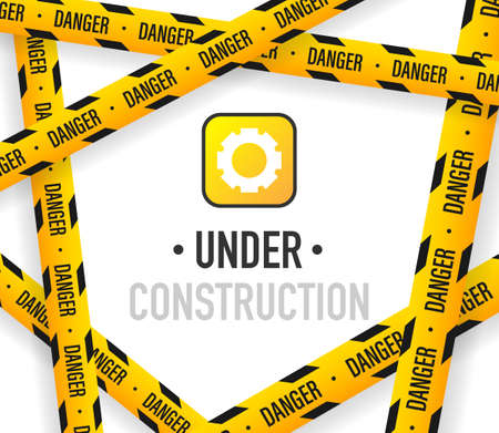 Under construction background vector illustration.