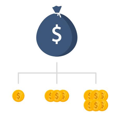 Financial diversification vector icon. Vector stock illustration Vecteurs