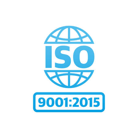 Iso icon, great design for any purposes. Product certification. Vector illustration