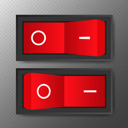 Switch, great design for any purposes. Web icon set. Realistic vector illustration
