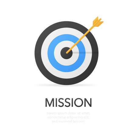 Mission. Modern flat design concept. Vector icon on white background. Vector illustration