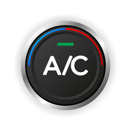 Air conditioner control button. It's cold and warm. Vector illustration