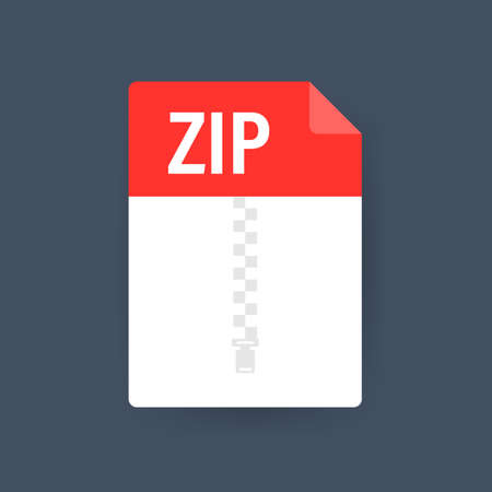 Zip file. Icon for web background design. Email sign. Technology vector illustration. Technology background