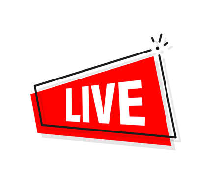 Live icon, great design for any purposes. Live stream sign. Digital background. Vector illustration.