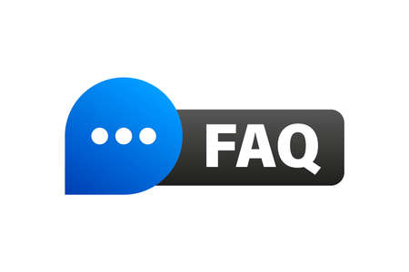 Frequently Asked Questions FAQ Label.