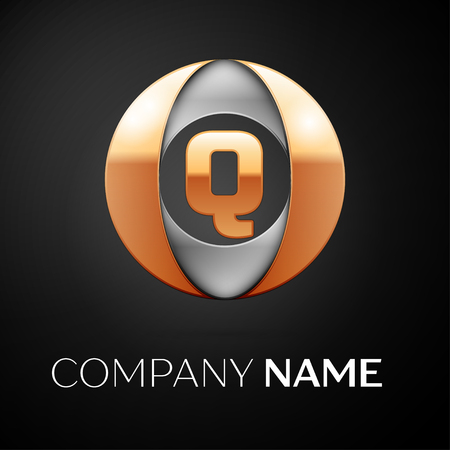 Letter Q Vector Logo Symbol In The Colorful Circle On Black