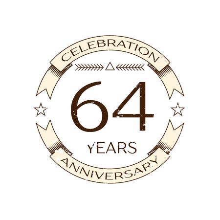 Realistische Fünfundsechzig Jahre Jubiläum Feier Logo Mit Ring Und ...