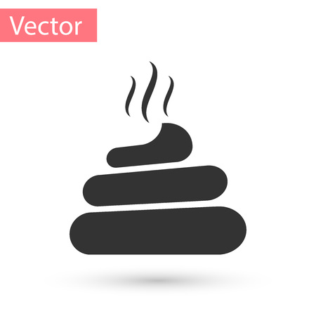 Grey Shit icon isolated on white background. Vector Illustration