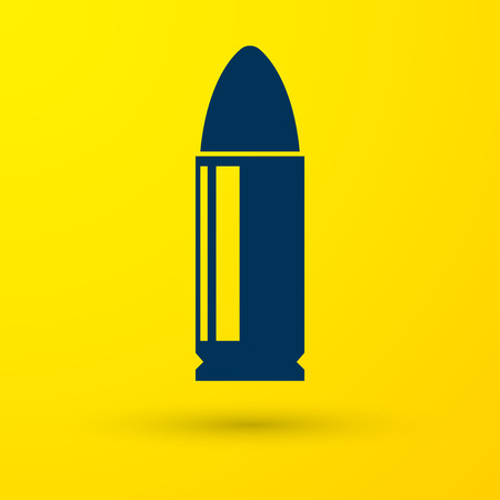 Blue Bullet icon isolated on yellow background. Vector Illustration Ilustrace