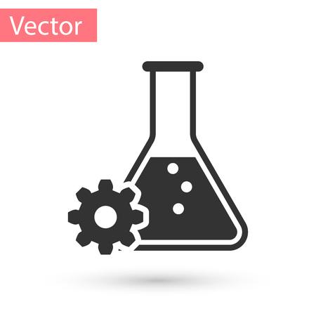 Grey Bioengineering icon isolated on white background. Element of genetics and bioengineering icon. Biology, molecule, chemical icon. Vector Illustration Illustration