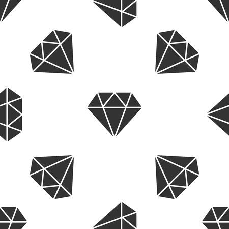 Grey Diamond sign isolated seamless pattern on white background. Jewelry symbol. Gem stone. Vector Illustration Ilustrace