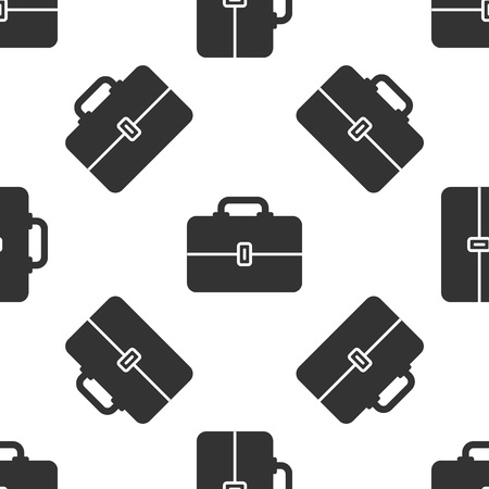 Grey Toolbox icon isolated seamless pattern on white background. Tool box sign. Vector Illustration 矢量图像