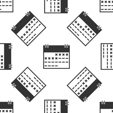Grey Calendar icon isolated seamless pattern on white background. Vector Illustration