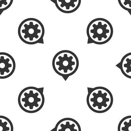 Grey Setting icon isolated seamless pattern on white background. Tools, service, cog, gear, cogwheel sign. Vector Illustration