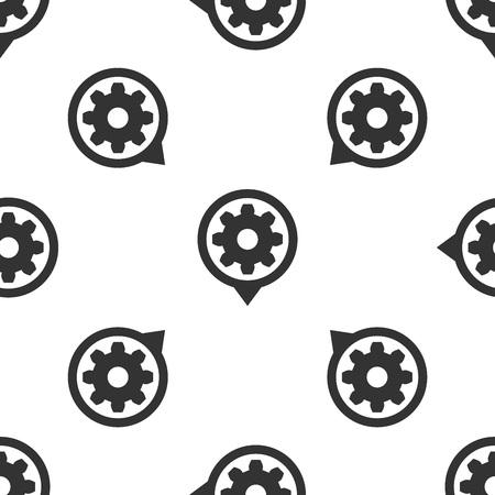 Icono de configuración gris aislado patrón transparente sobre fondo blanco. Herramientas, servicio, piñón, engranaje, signo de rueda dentada. Ilustración vectorial
