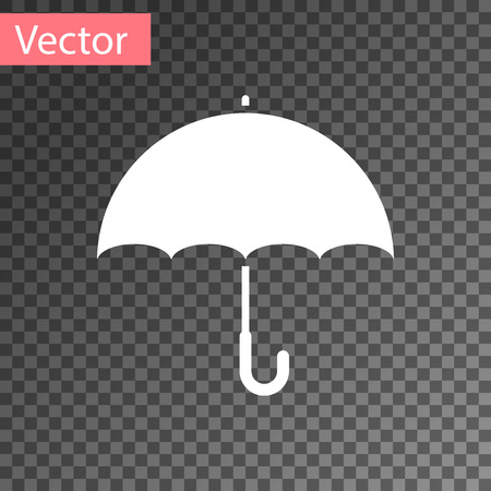 White Umbrella icon isolated on transparent background. Vector Illustration Ilustrace