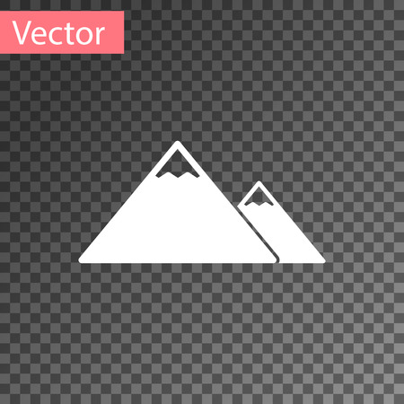 White Mountains icon isolated on transparent background. Symbol of victory or success concept. Vector Illustration