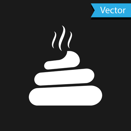 White Shit icon isolated on black background. Vector Illustration