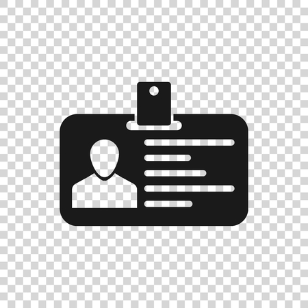 Grey Identification badge icon isolated on transparent background. Identification card. It can be used for presentation, identity of the company, advertising and etc. Vector Illustration