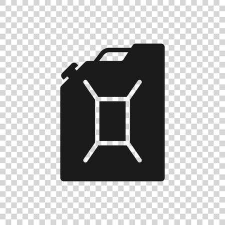 Recipiente gris para icono de gasolina aislado sobre fondo transparente. Icono de gas diesel. Ilustración vectorial