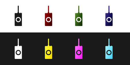 Set Remote control icon isolated on black and white background. Vector Illustration Illustration