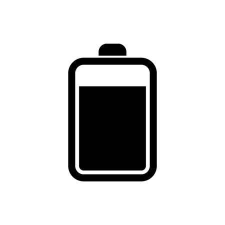Black Battery icon isolated on white background. Vector Illustration Stock Illustratie